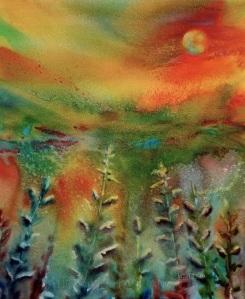 Dreamscape No. 1, 13x17, Watercolor Dreamscaping With June Rollins®