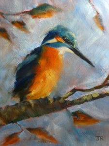 Kingfisher, Oil, 8x10 ©June Rollins