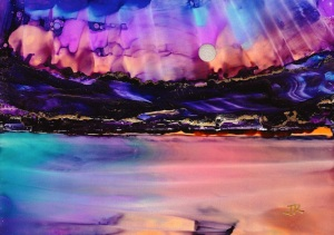 Dreamscape No. 511, 5x7, Alcohol Inks, Yupo Dreamscaping With June Rollins®