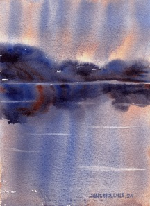 Dreamscape No. 504, 5x7 Watercolor, © June Rollins