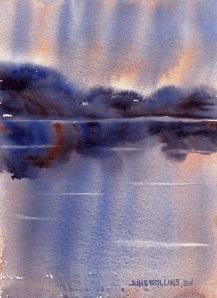 Dreamscape No. 504, 5x7 Watercolor, © June Rollins