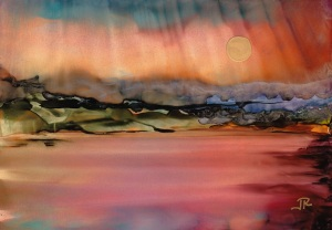 Dreamscape No. 509, 5x7, Alcohol Inks Dreamscaping With June Rollins®