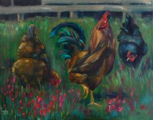 Edward & Friends 16x20, Oil ©June Rollins