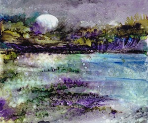 Dreamscape No. 538, 5x6, Yupo Dreamscaping With June Rollins®