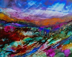 Dreamscape No. 548, 11x14, Alcohol Inks Dreamscaping With June Rollins®