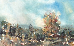 Standing Tall, 7x10 Watercolor Dreamscaping With June Rollins®