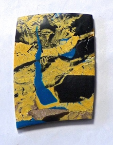 """Paving The Way"" Original Art Pin, 2""x2.5"" Polymer Clay ©June Rollins"