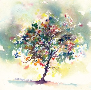 Partly Cloudy Triad Tree 7x7, Arches 140lb., CP Dreamscaping With June Rollins®