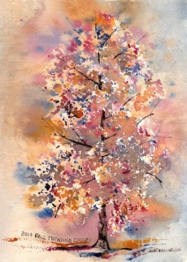 2014 Fall Trending Colors 7x10, Watercolor Dreamscaping With June Rollins®
