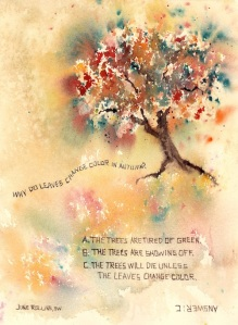 Why Do Leaves Change Color In Autumn? 7x10, Watercolor Dreamscaping With June Rollins®
