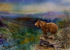 Big Bear, 21x29, Watercolor ©June Rollins